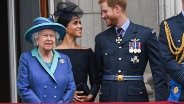 الملكة والأمير هاري وميغان ماركل.