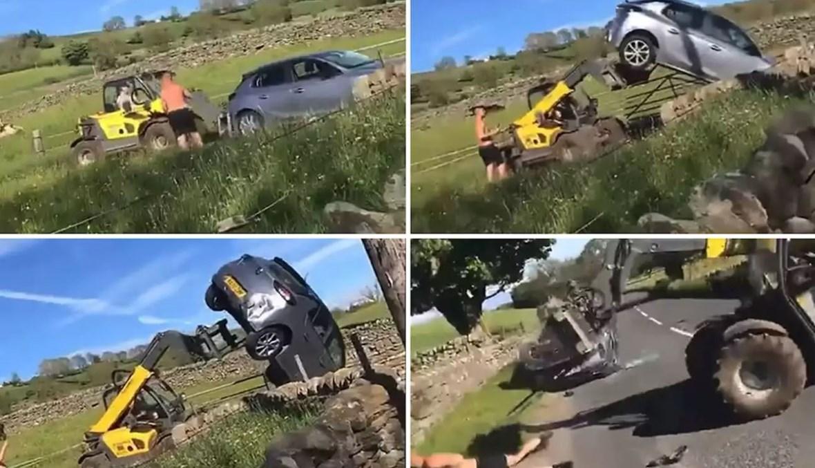 لقطات من الفيديو.