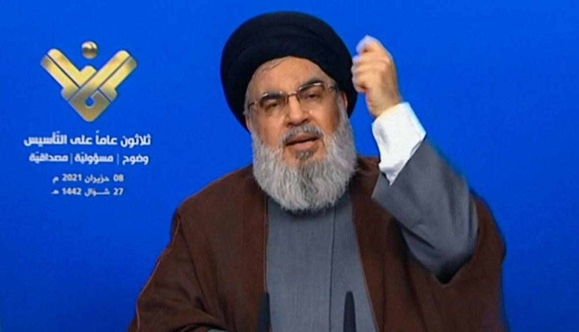 """الامين العام لـ""""حزب الله"""" (أ ف ب)."""