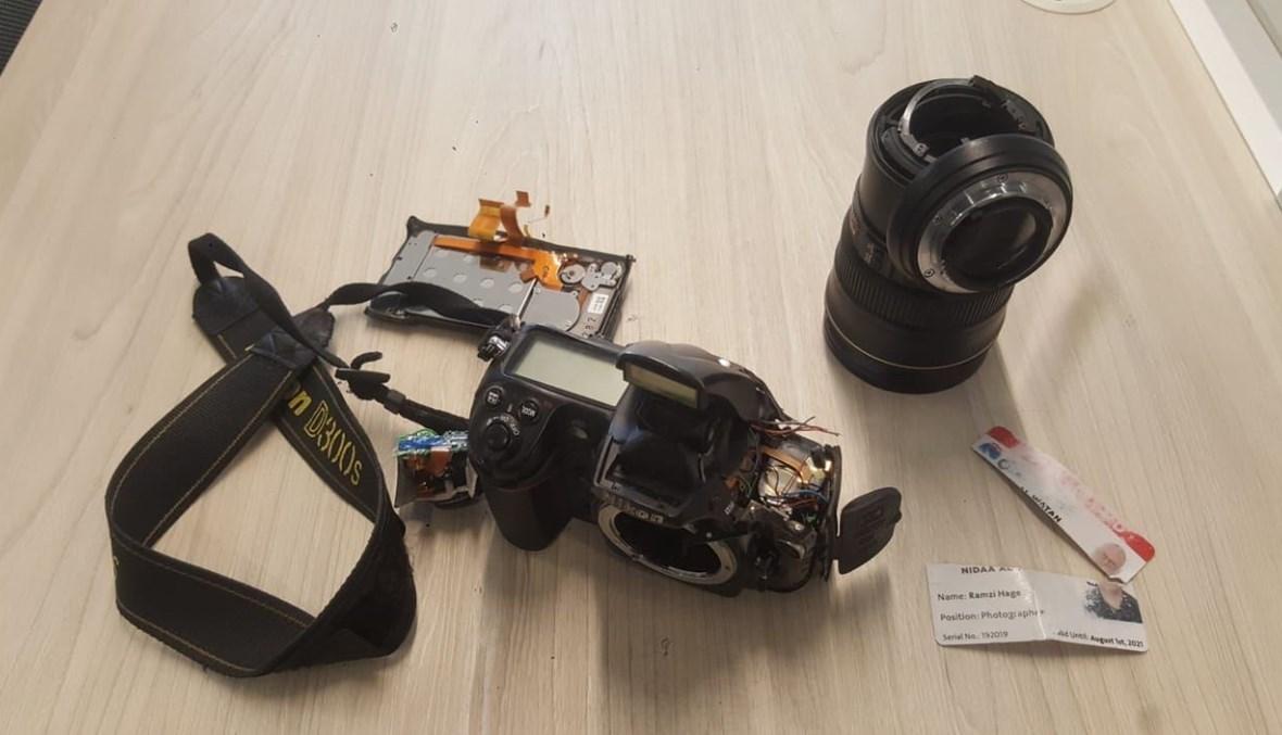 الكاميرا مدمرة كلياً
