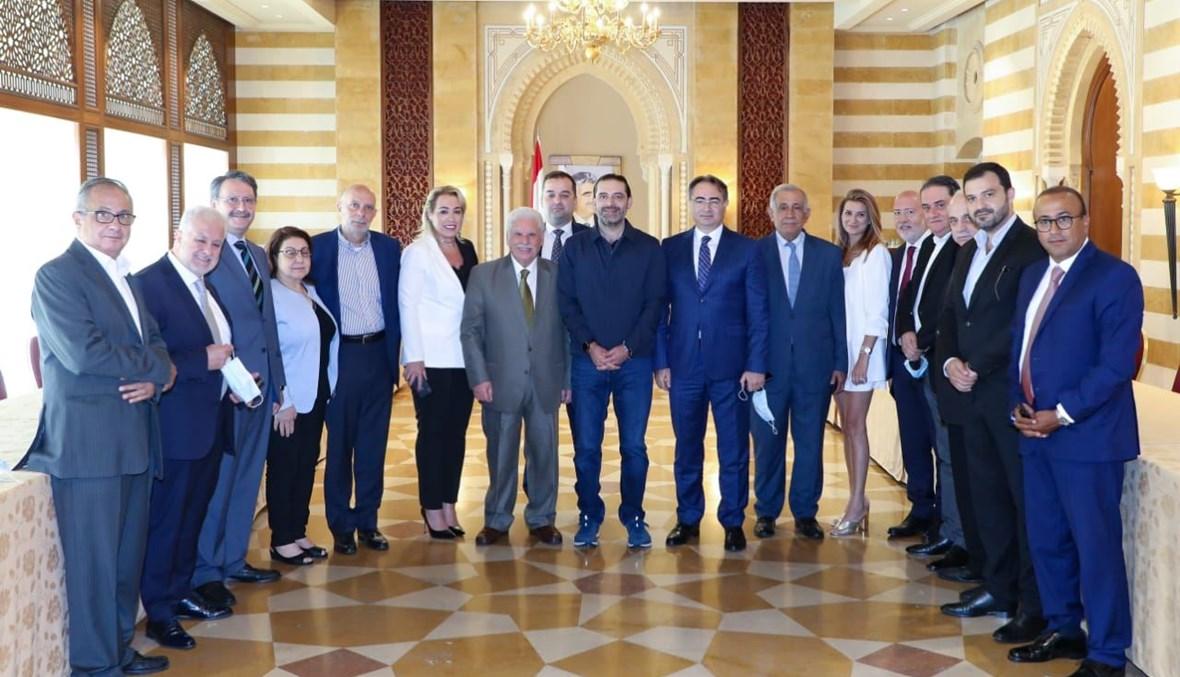 الحريري استقبل اتحاد العائلات البيروتية.