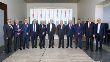 """جعجع يلتقي وفد """"مجلس العمل والاستثمار اللبناني في السعودية""""."""