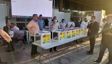 إقفال صناديق الاقتراع في نقابة المهندسين بطرابلس.