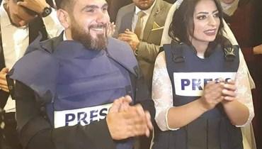 بسترة الصحافة... زفاف صحافييّن في فلسطين