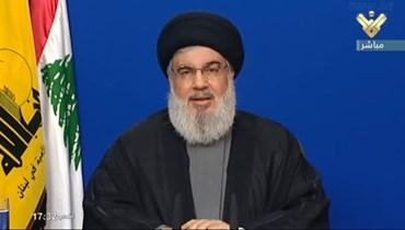 """الأمين العام لـ """"حزب الله"""" السيد حسن نصرالله"""