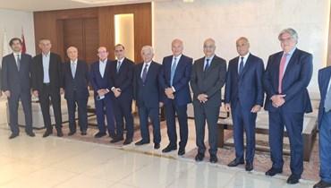 الهيئة الادارية الجديدة لجمعية مصارف لبنان.