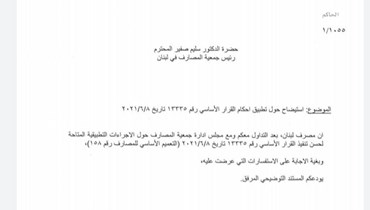 إيضاحات مصرف لبنان حيال التعميم 158 تقطع الشك باليقين: لا يحق للمودع الإفادة من 3,900 وسحب الدولار أيضاً