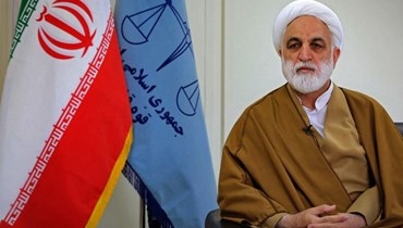 الشيخ غلام حسين محسني إجئي رئيس السلطة القضائية في إيران  (أ ف ب).