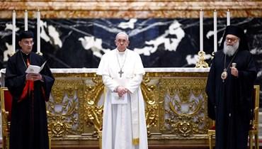 البابا يتوّج الإدانة العالمية لمسؤولي لبنان (تعبيرية - أ ف ب)
