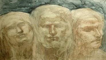 لوحة للأديب والرسام جبران خليل جبران.
