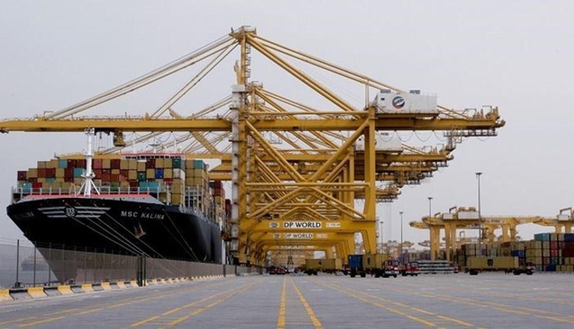 """ميناء جبل علي في دبي (أرشيفية، """"أ ف ب"""")."""
