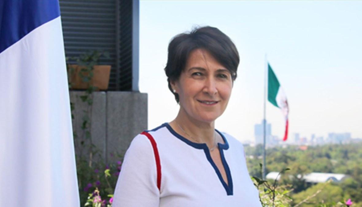سفيرة فرنسا في لبنان آن غريّو