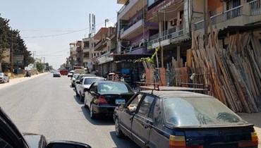 طوابير السيارات في عكار.