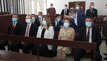 الوزيرة ماري كلود نجم والسفير التركي علي باريش أولوسوي.