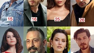 النجوم  الأكثر تأثيراً بالشباب في تركيا.