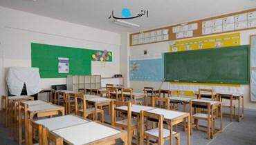 صفّ مدرسي (تصوير حسن عسل).