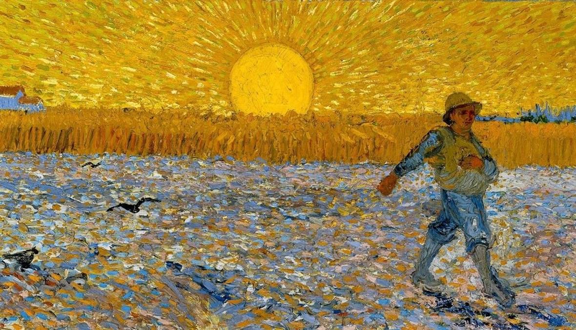 """لوحة """"الزارع"""" للرسام الانطباعي الهولندي فان غوخ (متحف كرولر- مولر، هولندا)."""