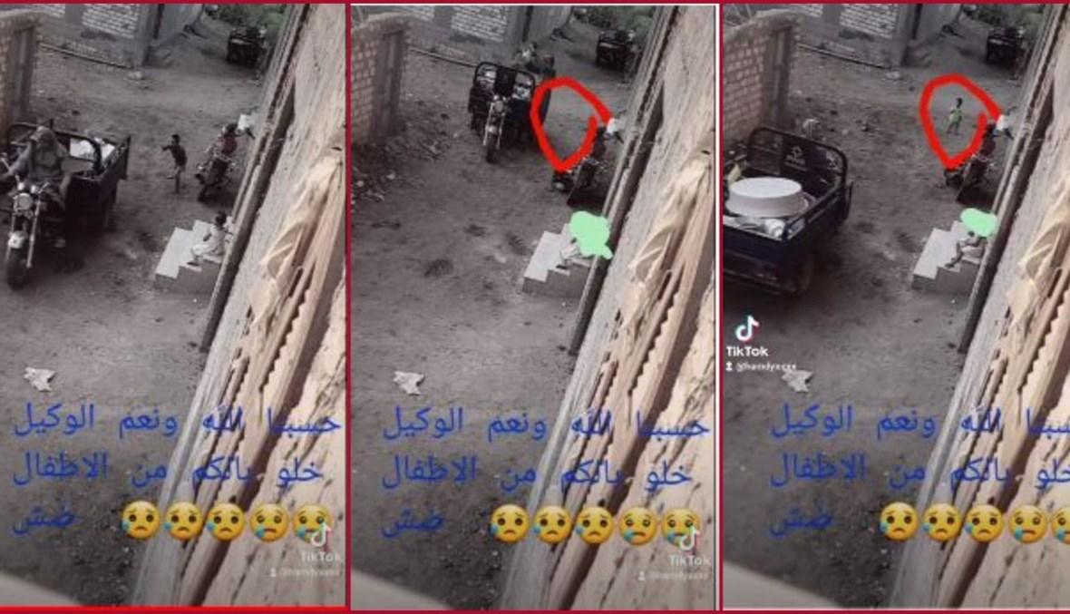 ثلاث لقطات شاشة من الفيديو المتناقل بالمزاعم الخاطئة (يوتيوب).