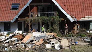 أضرار الفيضانات في ألمانيا (أ ف ب).