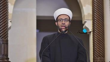 الشيخ أمين الكردي من على منبر مسجد الأمين في بيروت (حسام شبارو).