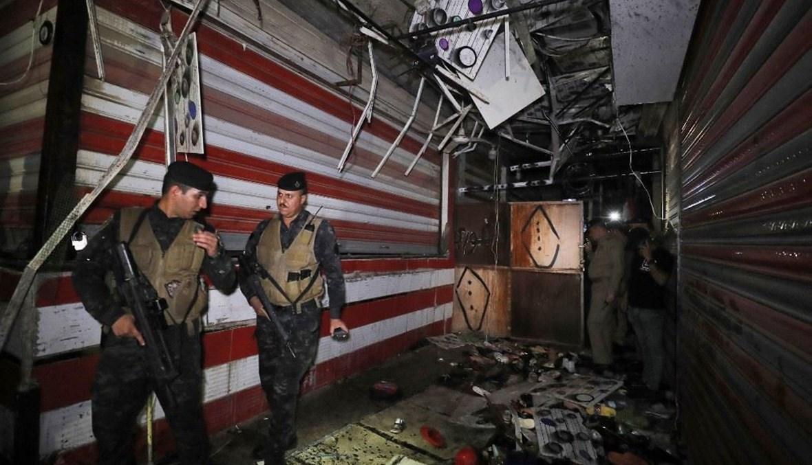 تفجير انتحاري بسوق في بغداد (أ ف ب).