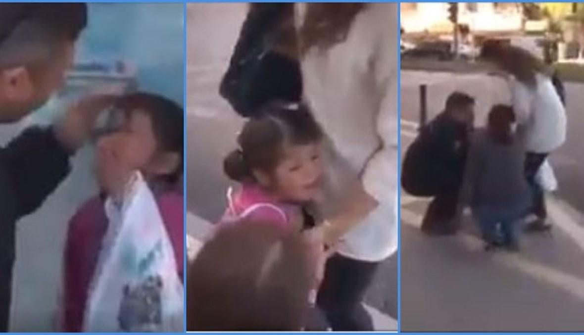 ثلاث لقطات شاشة من الفيديو المتناقل بالمزاعم الخاطئة (فايسبوك).