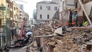 مشهد الدمار في مار مخايل بعد انفجار مرفأ بيروت (من الأرشيف)