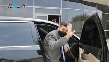 وزير الطاقة ريمون غجر (تصوير حسن عسل).