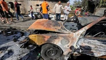 تفجير مدينة الصدر (أ ف ب).