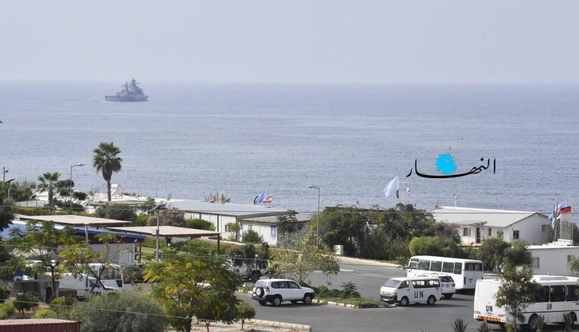 الحدود البحرية عند نقطى الناقورة.