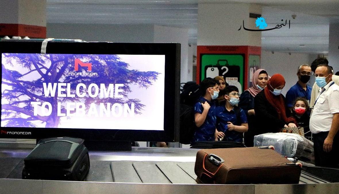 """""""أهلاً بكم في لبنان"""" (من مطار بيروت- تعبيرية)."""