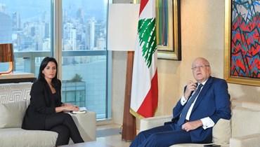 """بالفيديو- حوار خاص مع """"النهار""""... ميقاتي: لتشكيل حكومة تقنية وهناك ضمانات دولية وأميركية لعدم انهيار لبنان"""