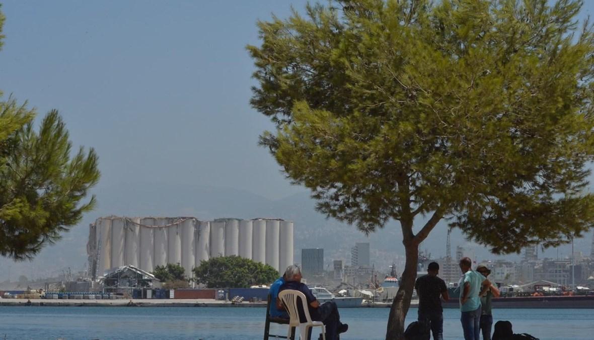 مشهد من أمام مرفأ بيروت (نبيل اسماعيل).