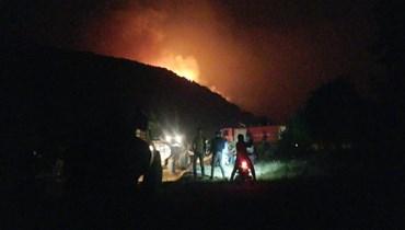 الوضع يخرج عن السيطرة في جبل أكروم... رقعة الحرائق تتمدّد والمناشدات تتعالى (فيديو)