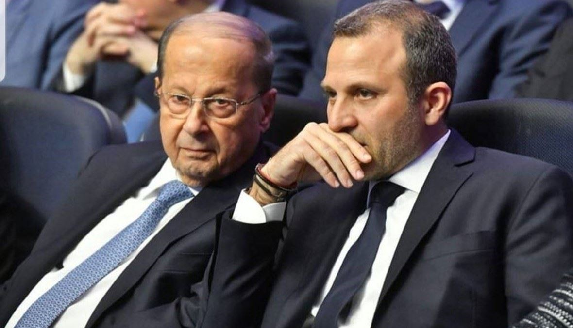 الرئيس ميشال عون والنائب جبران باسيل.