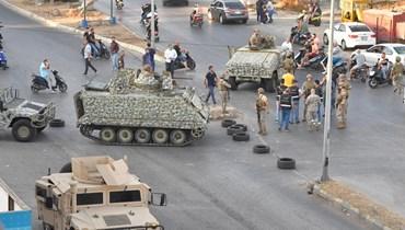 """الجيش ينتشر في محيط """"سنتر شبلي"""" في خلدة (نبيل اسماعيل)."""