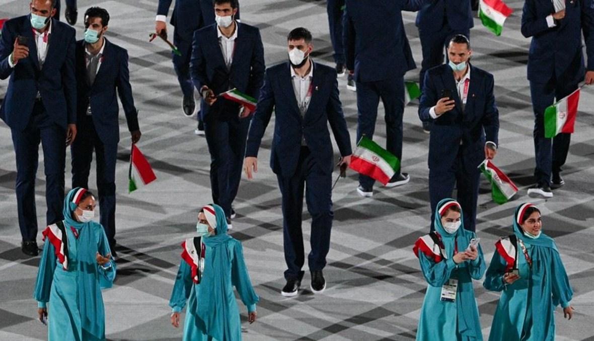 الصورة من مشاركة إيران في الأولمبياد (أ ف ب).