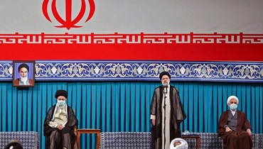 مراسم تنصيب رئيسي في طهران (أ ف ب).