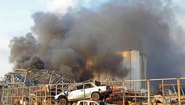 صورة من انفجار مرفأ بيروت
