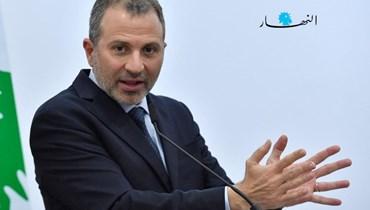 """رئيس """"التيار الوطني الحر"""" النائب جبران باسيل."""