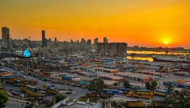 مرفأ بيروت، 3 آب 2021 (تصوير نبيل إسماعيل).