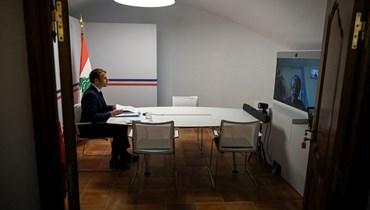 """مؤتمر دولي لدعم لبنان - ماكرون يتهّم المسؤولين بـ""""المراهنة على الاهتراء"""" وعون: لا أحد فوق سقف القانون (صور - فيديو)"""