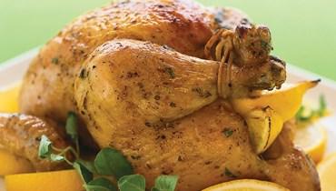 دجاج مشوي بالليمون