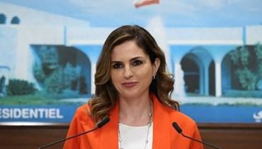وزيرة الإعلام في حكومة تصريف الأعمال منال عبد الصمد نجد.
