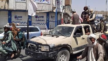 """حركة """"طالبان"""" في ولاية قندهار (أ ف ب)."""