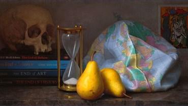 """لوحة بعنوان """"أيام سعيدة"""" للرسام الإيرلندي المعاصر كونور والتن (تعبيرية)."""
