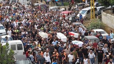 تشييع ضحايا مجزرة التليل وسط غضب شعبي (نبيل اسماعيل).