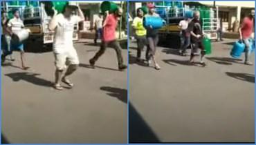 لقطتا شاشة من الفيديو المتناقل بالمزاعم الخاطئة (يوتيوب).