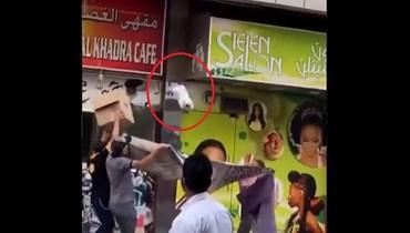 إنقاذ قطة في دبي.