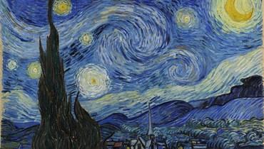 """لوحة """"ليلة النجوم"""" للرسام الانطباعي الهولندي فينسنت فان غوخ (متحف الفن الحديث، نيويورك)."""